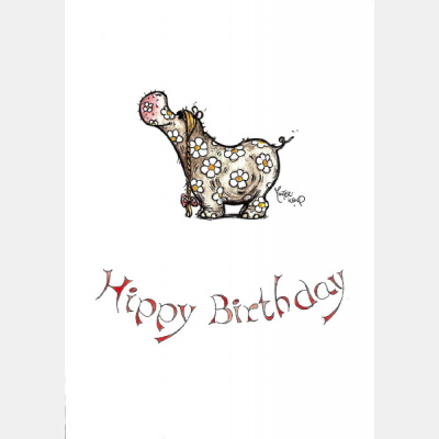 Hippy Birthday Card At Tom Dickins Fine Art